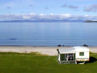 Musadale Touring Park on the Coast of Scotland