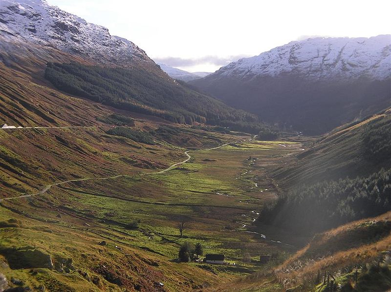 Glen Croe, viewed from Rest and Be Thankful ©  Richard Harvey Wikipedia