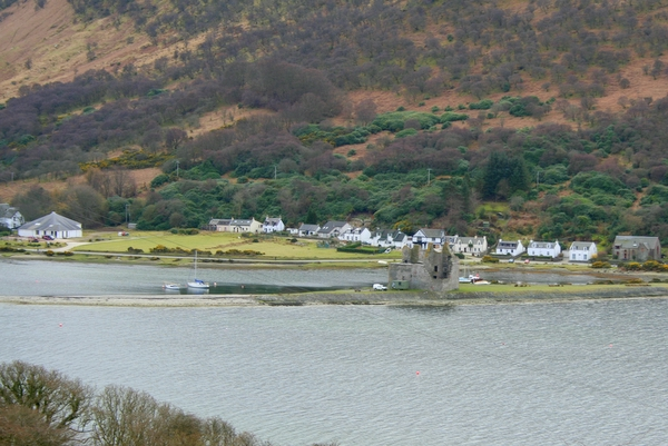 Lochranza village and castle, Isle of Arran, Scotland