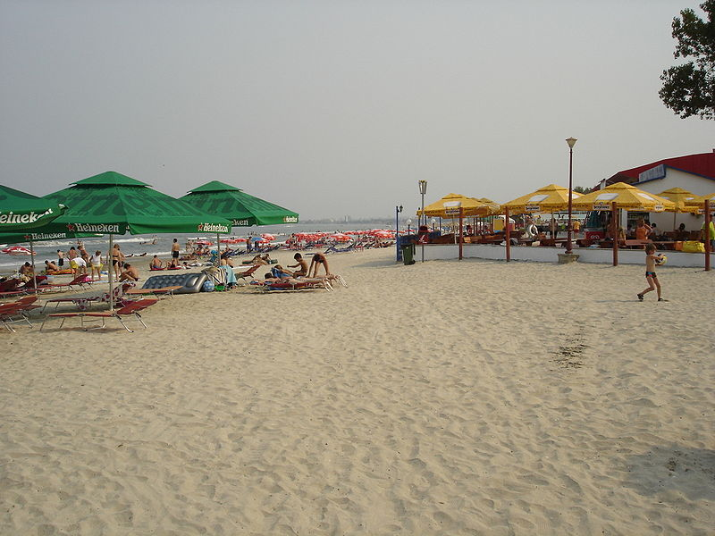 Resort Mamaia on the Black Sea Coast, Romania
