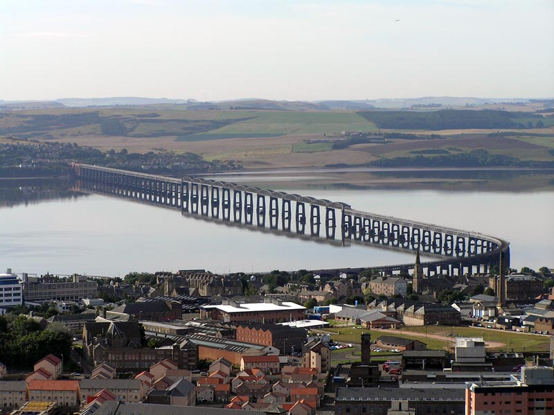 Tay Bridge from Dundee