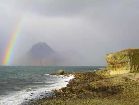 Rainbow towards Cuillin from Elgol, © Gavin Mitchell