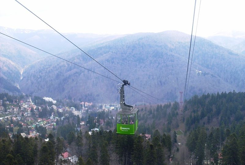 Prahova Valley from Cable Car